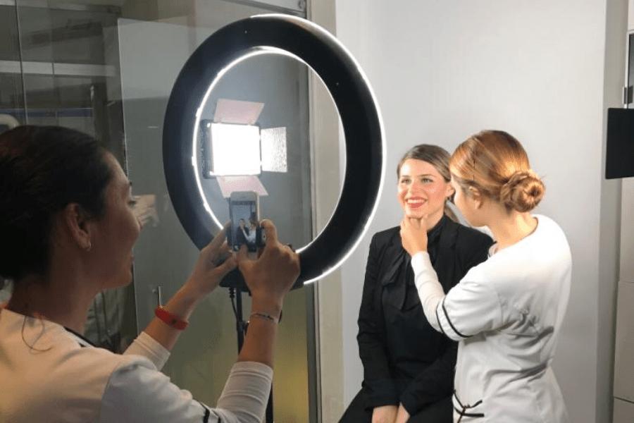 imagen de un caso de diseño digital de la sonrisa en Instituto Dental Lebrón